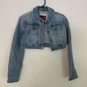 Vanity Blue Jean Cropped Top Jean Jacket Women M